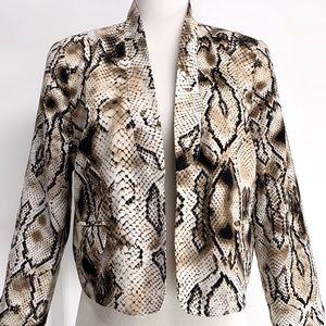 Snake Skin Animal Print Blazer (Large) Jacket